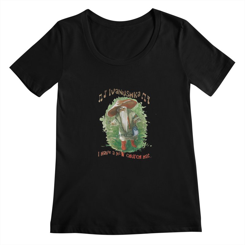 Grandfather Mushroom Women's Scoopneck by Yodagoddess' Artist Shop
