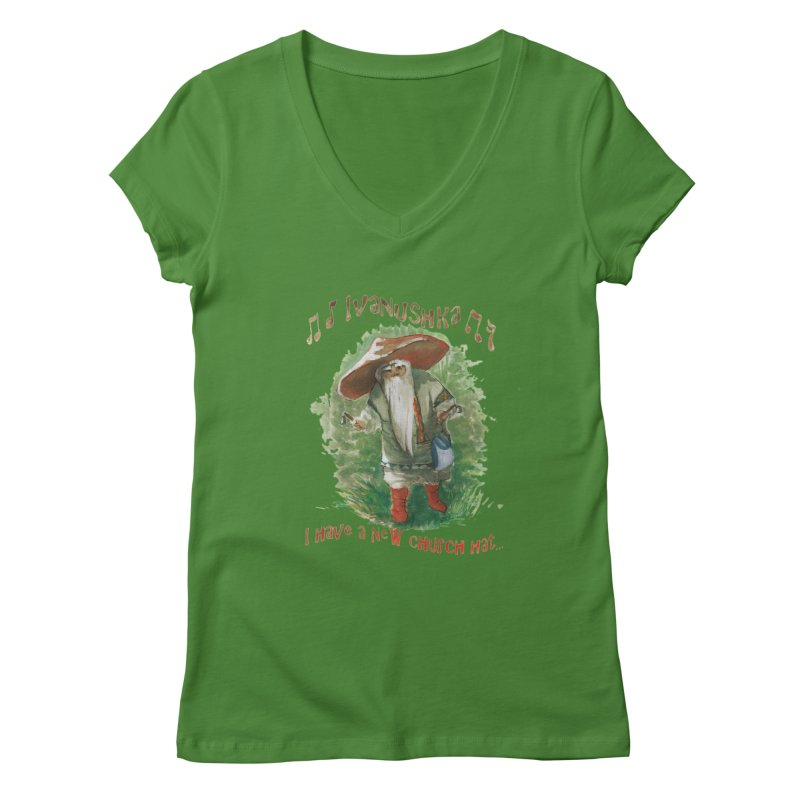 Grandfather Mushroom Women's V-Neck by Yodagoddess' Artist Shop