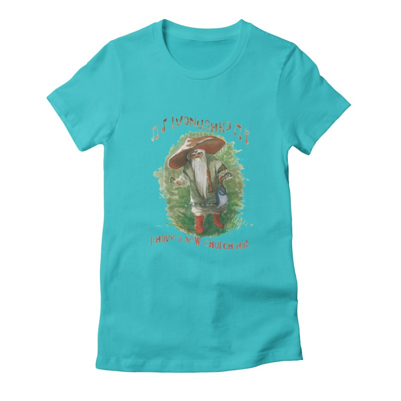 Grandfather Mushroom Women's Fitted T-Shirt by Yodagoddess' Artist Shop