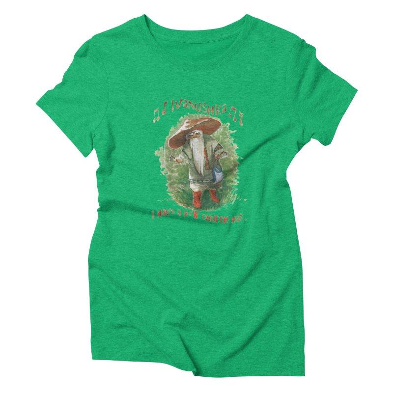 Grandfather Mushroom Women's Triblend T-Shirt by Yodagoddess' Artist Shop