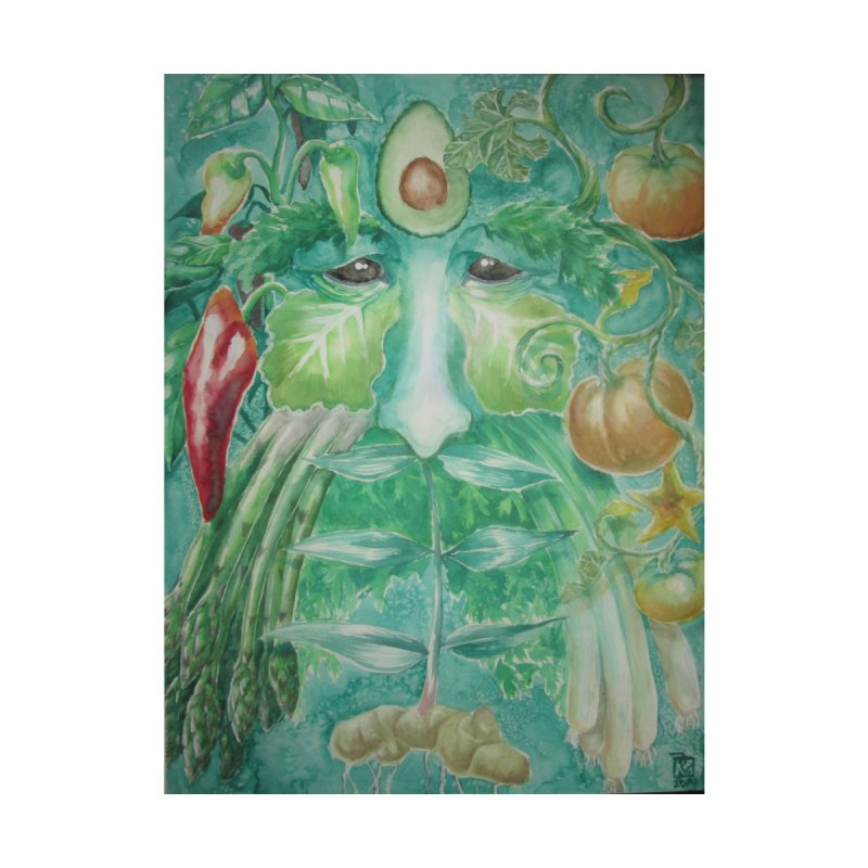 Garden Green Man with Peppers and Pumpkins by Yodagoddess' Artist Shop