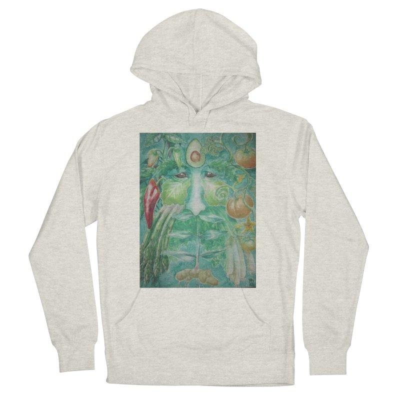 Garden Green Man with Peppers and Pumpkins Men's Pullover Hoody by Yodagoddess' Artist Shop