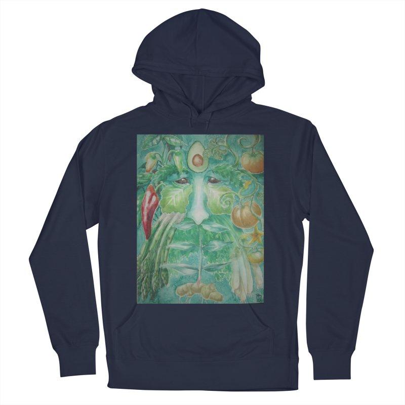 Garden Green Man with Peppers and Pumpkins Women's Pullover Hoody by Yodagoddess' Artist Shop