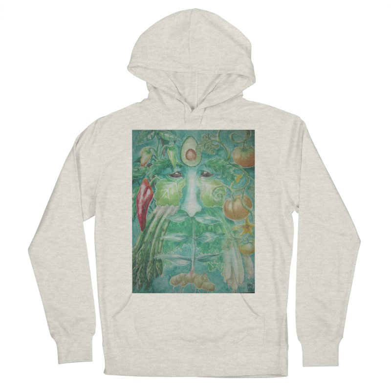 Garden Green Man with Peppers and Pumpkins Men's Pullover Hoody by Yodagoddess' Artist Shop