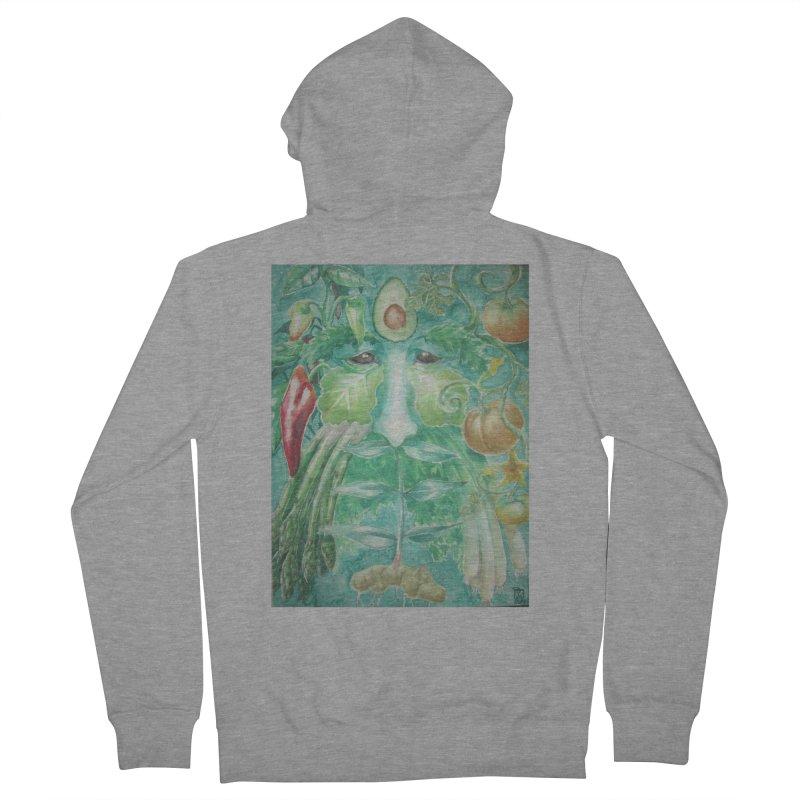 Garden Green Man with Peppers and Pumpkins Women's Zip-Up Hoody by Yodagoddess' Artist Shop