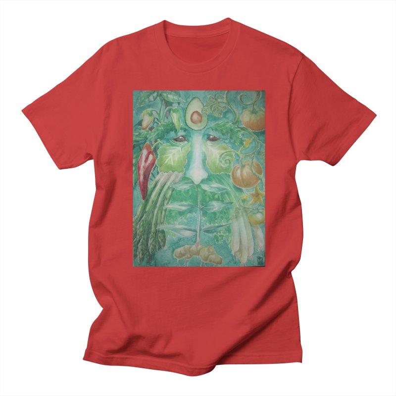 Garden Green Man with Peppers and Pumpkins Women's Unisex T-Shirt by Yodagoddess' Artist Shop