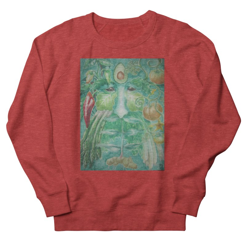 Garden Green Man with Peppers and Pumpkins Women's Sweatshirt by Yodagoddess' Artist Shop
