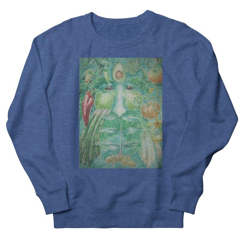 Garden Green Man with Peppers and Pumpkins Men's Sweatshirt by Yodagoddess' Artist Shop