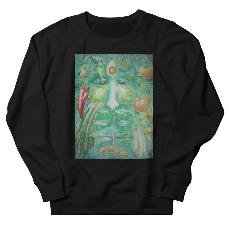 Garden Green Man with Peppers and Pumpkins Men's Sweatshirt by Yodagoddess' Artist Shop