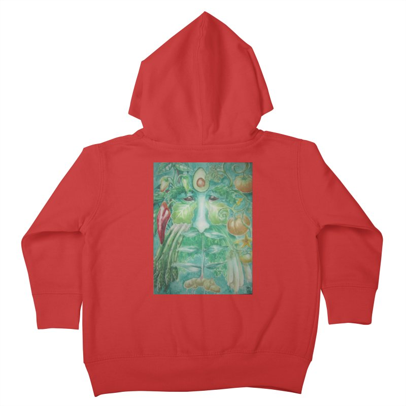Garden Green Man with Peppers and Pumpkins Kids Toddler Zip-Up Hoody by Yodagoddess' Artist Shop