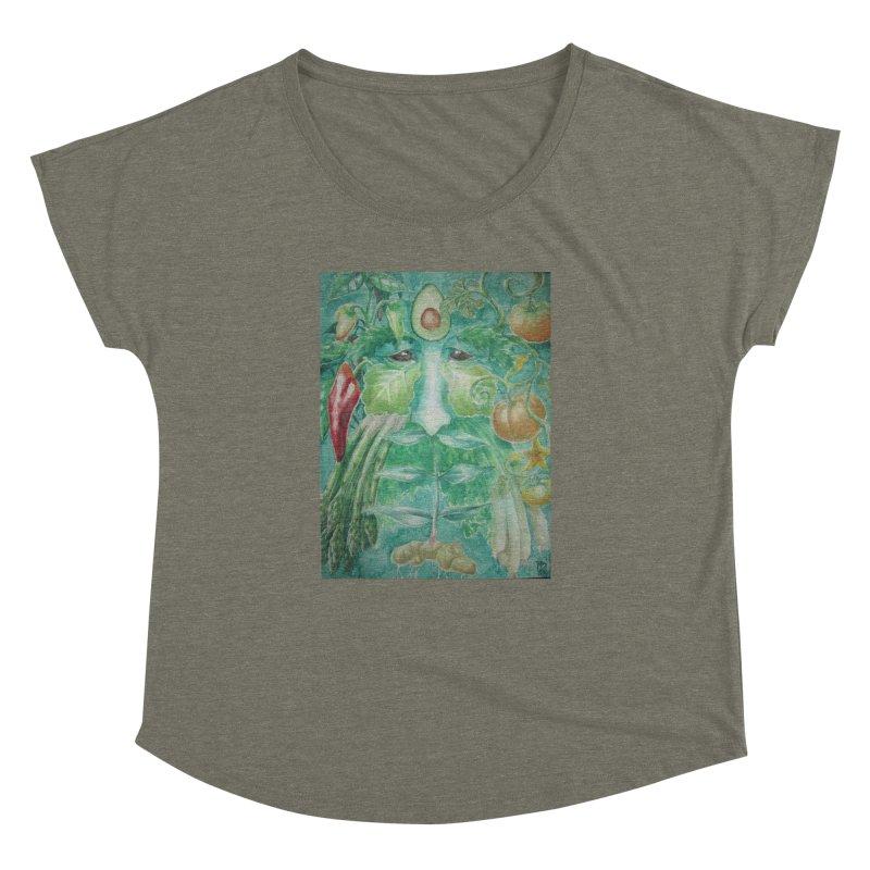 Garden Green Man with Peppers and Pumpkins Women's Dolman by Yodagoddess' Artist Shop