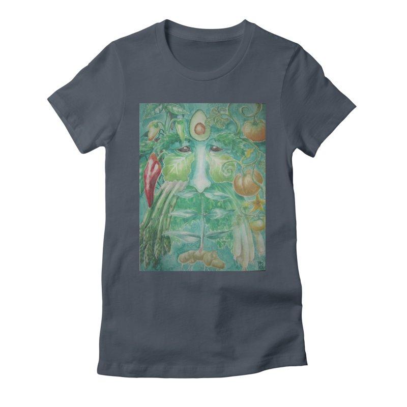 Garden Green Man with Peppers and Pumpkins Women's Lounge Pants by Yodagoddess' Artist Shop