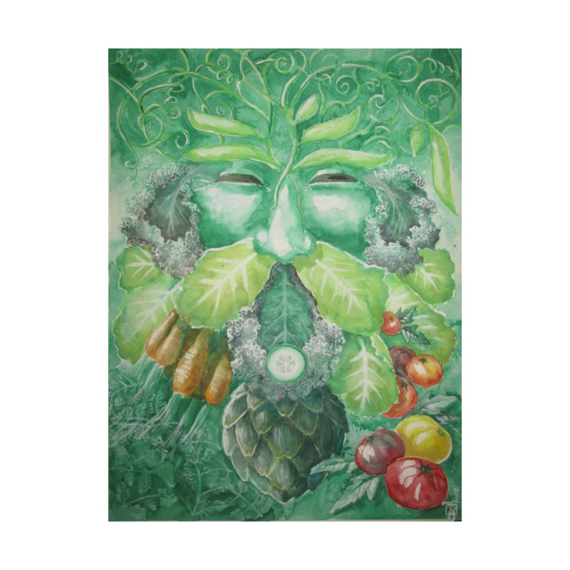 Garden Green Man with Kale and Artichoke by Yodagoddess' Artist Shop