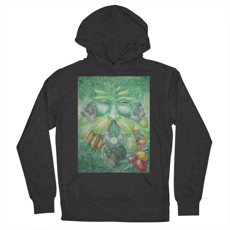 Garden Green Man with Kale and Artichoke Men's Pullover Hoody by Yodagoddess' Artist Shop