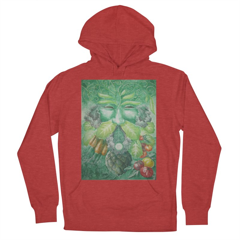 Garden Green Man with Kale and Artichoke Men's Pullover Hoody by Yodagoddess' Artist Shop