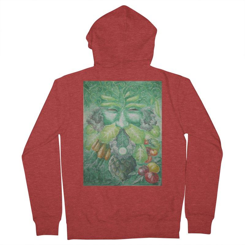 Garden Green Man with Kale and Artichoke Women's Zip-Up Hoody by Yodagoddess' Artist Shop
