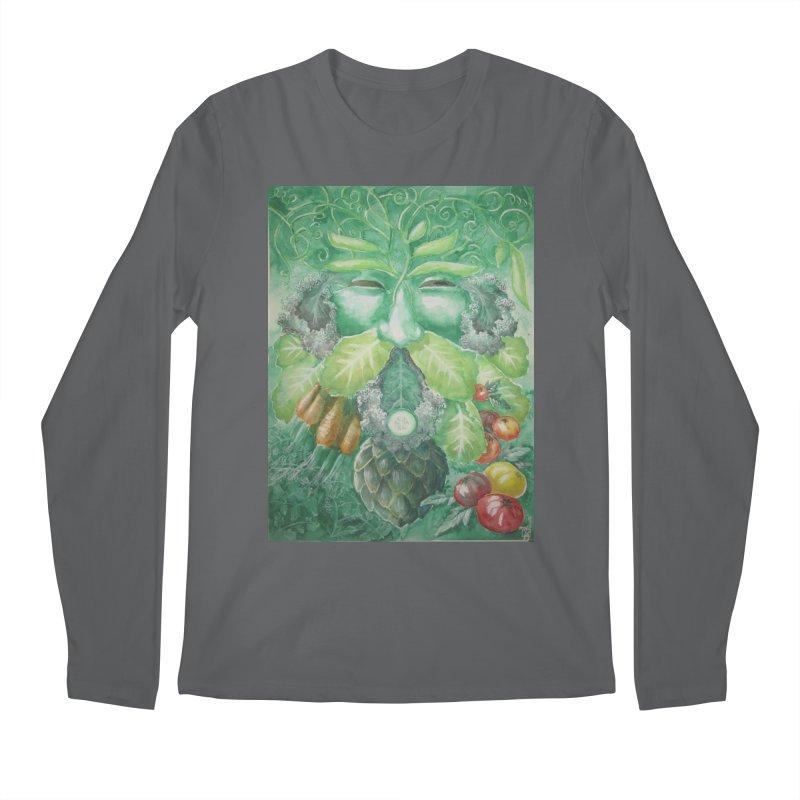 Garden Green Man with Kale and Artichoke Men's Longsleeve T-Shirt by Yodagoddess' Artist Shop