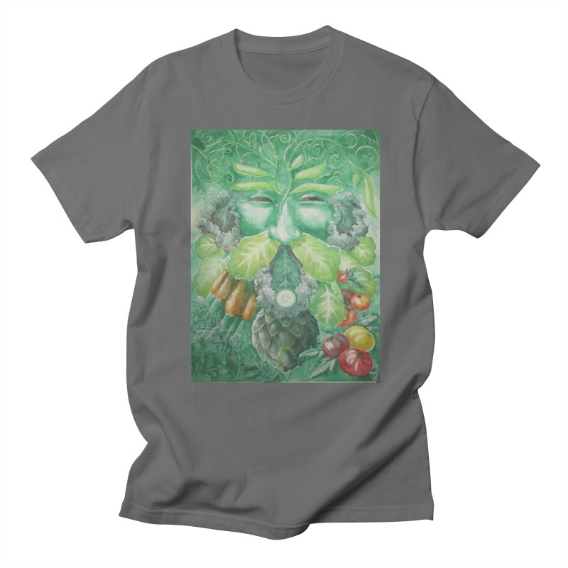 Garden Green Man with Kale and Artichoke Men's T-Shirt by Yodagoddess' Artist Shop