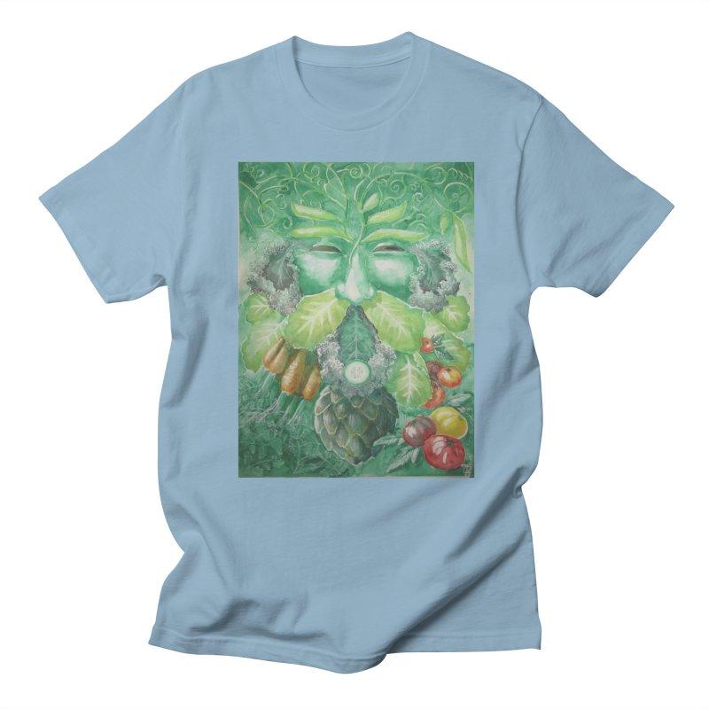 Garden Green Man with Kale and Artichoke Women's Unisex T-Shirt by Yodagoddess' Artist Shop