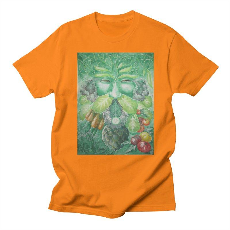 Garden Green Man with Kale and Artichoke Men's T-Shirt by Yodagoddess' Artist Shop