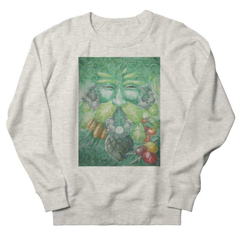 Garden Green Man with Kale and Artichoke Men's Sweatshirt by Yodagoddess' Artist Shop