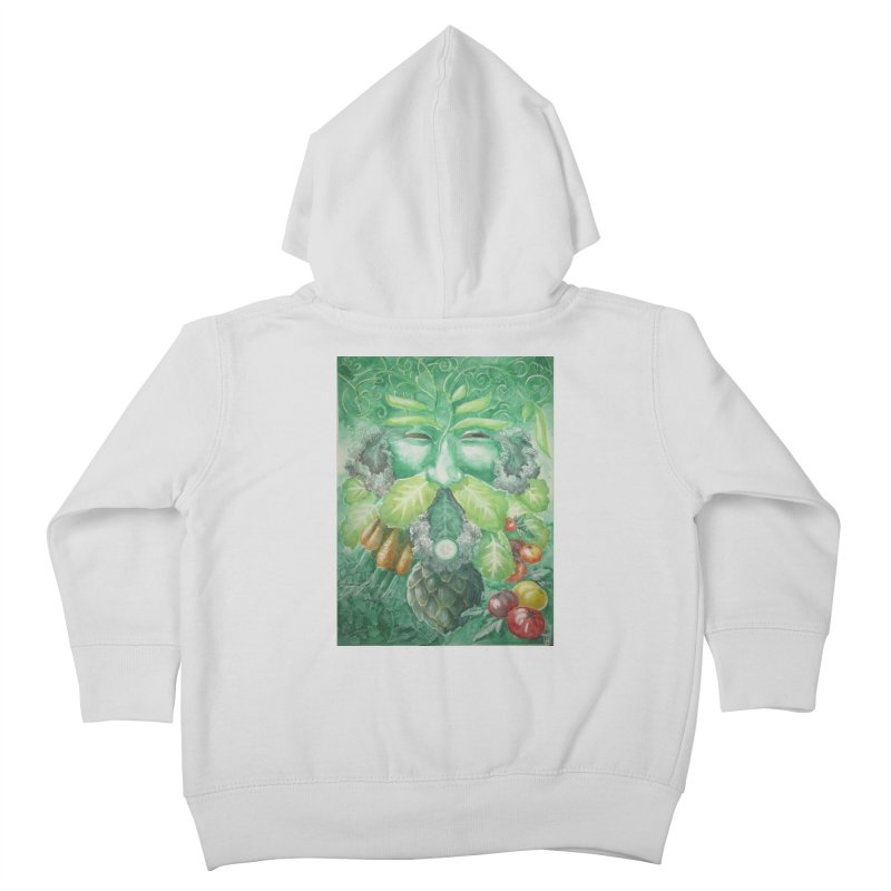 Garden Green Man with Kale and Artichoke Kids Toddler Zip-Up Hoody by Yodagoddess' Artist Shop
