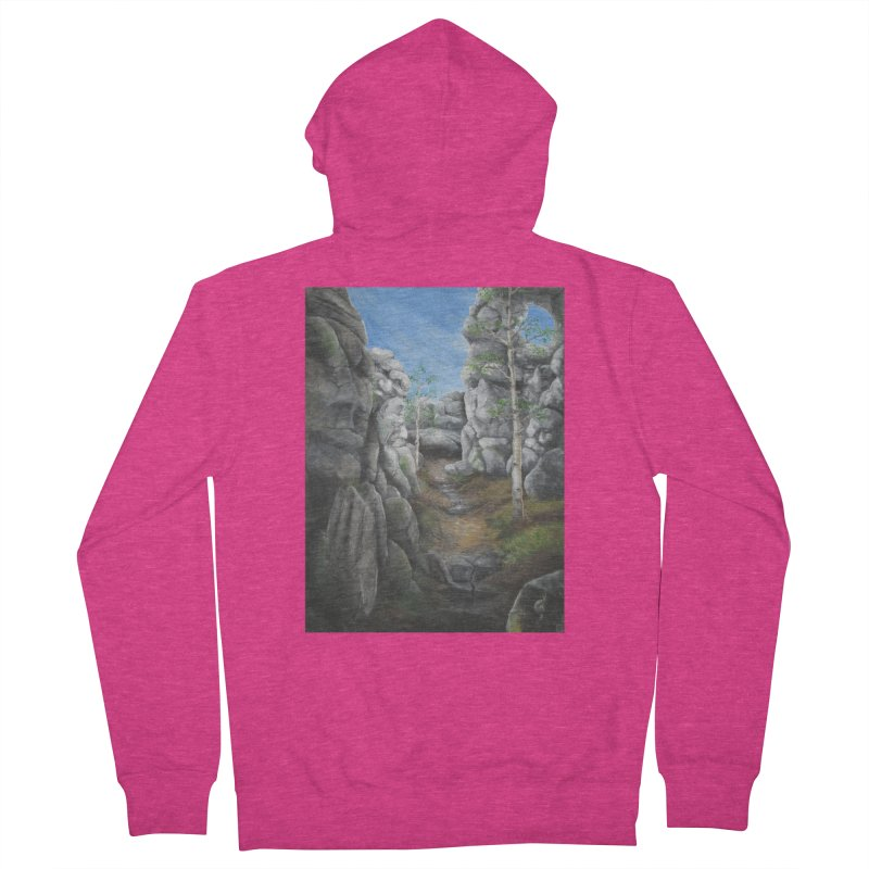 Rock Faces Women's Zip-Up Hoody by Yodagoddess' Artist Shop