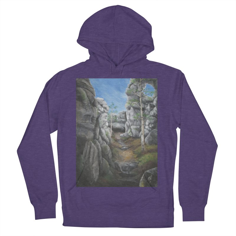 Rock Faces Women's French Terry Pullover Hoody by Yodagoddess' Artist Shop