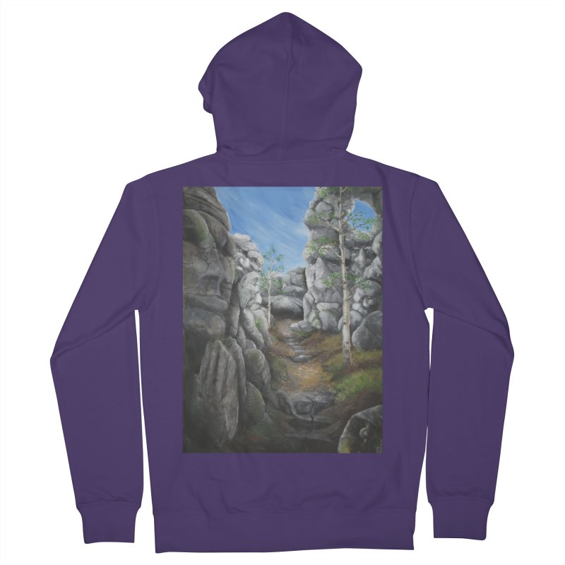 Rock Faces Women's French Terry Zip-Up Hoody by Yodagoddess' Artist Shop