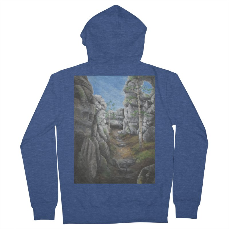 Rock Faces Men's Zip-Up Hoody by Yodagoddess' Artist Shop