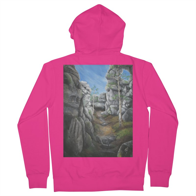 Rock Faces Men's French Terry Zip-Up Hoody by Yodagoddess' Artist Shop