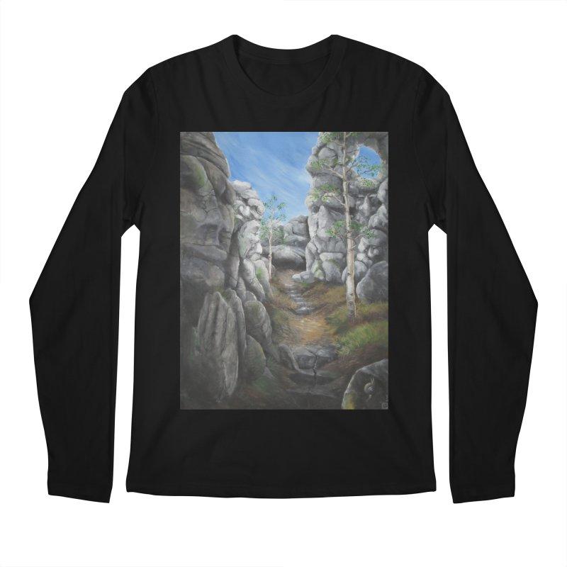Rock Faces Men's Regular Longsleeve T-Shirt by Yodagoddess' Artist Shop