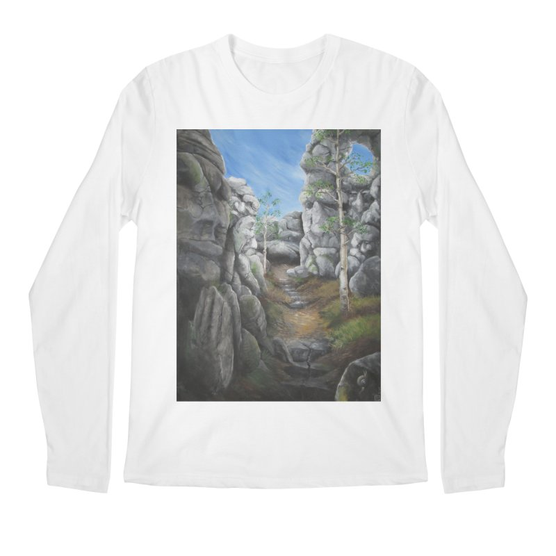 Rock Faces Men's Regular Longsleeve T-Shirt by Yodagoddess' Artist Shop