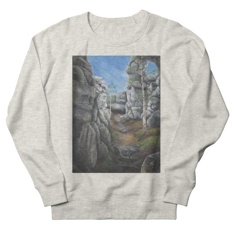 Rock Faces Women's French Terry Sweatshirt by Yodagoddess' Artist Shop