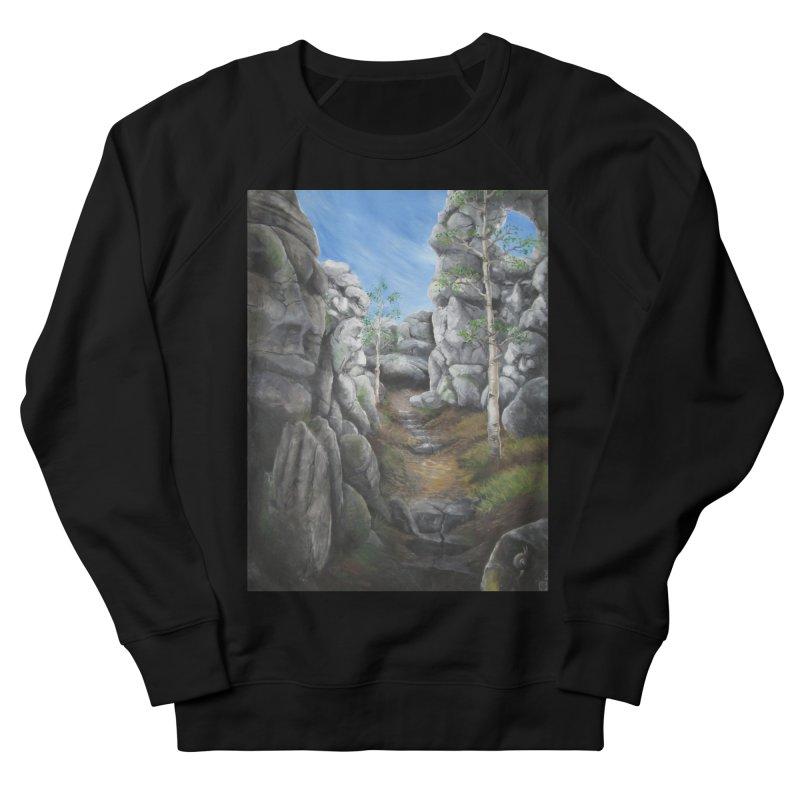 Rock Faces Men's French Terry Sweatshirt by Yodagoddess' Artist Shop