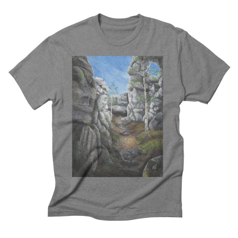 Rock Faces Men's Triblend T-Shirt by Yodagoddess' Artist Shop