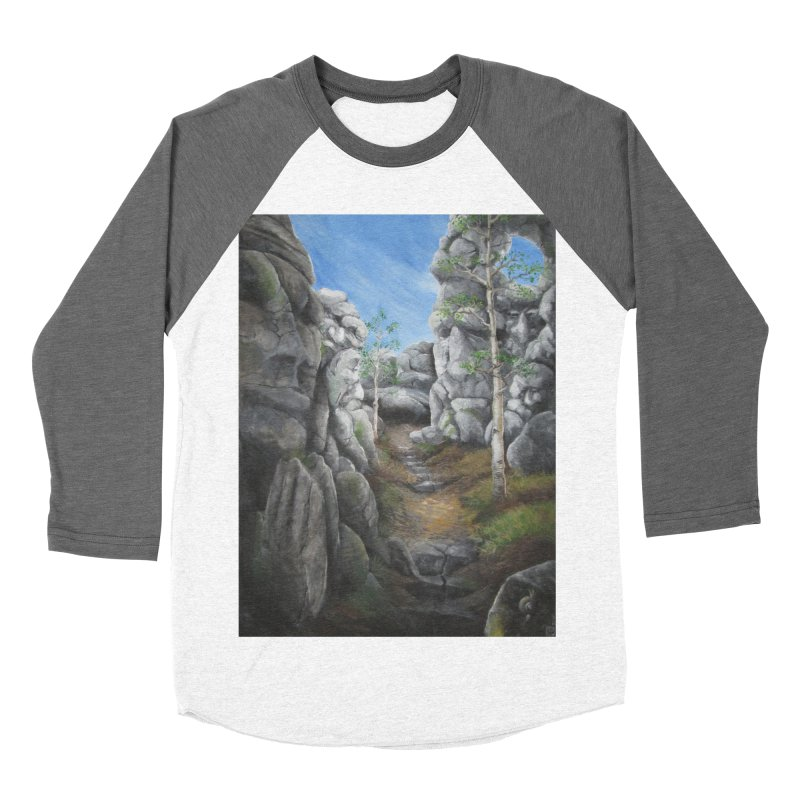 Rock Faces Women's Baseball Triblend Longsleeve T-Shirt by Yodagoddess' Artist Shop