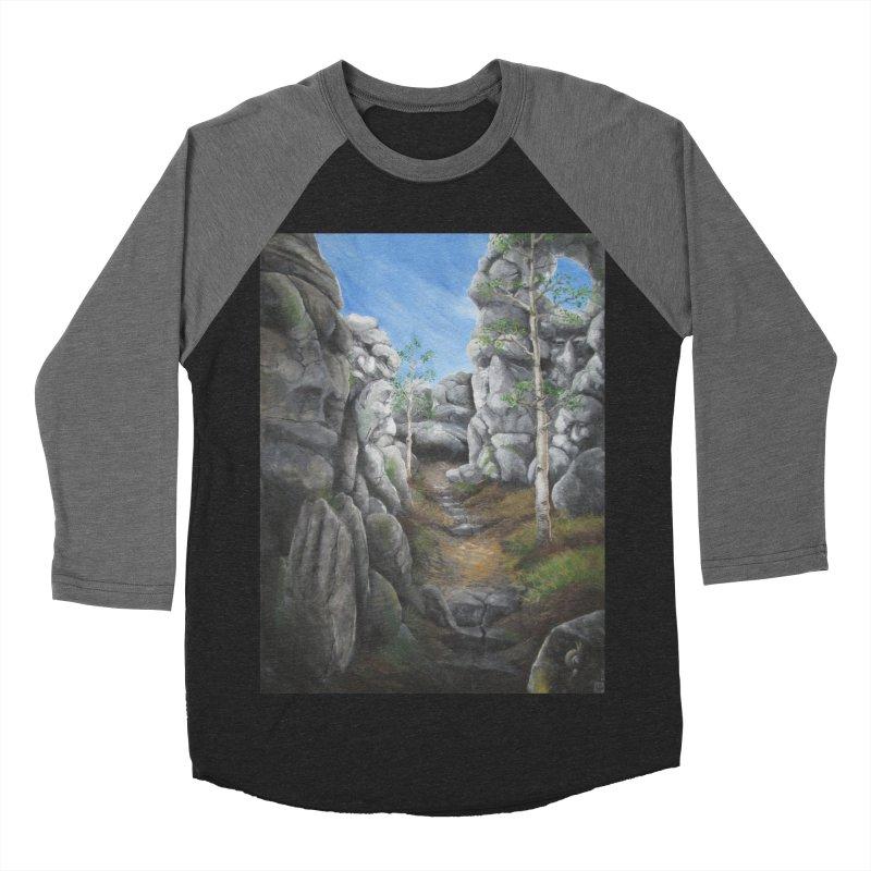 Rock Faces Men's Baseball Triblend T-Shirt by Yodagoddess' Artist Shop