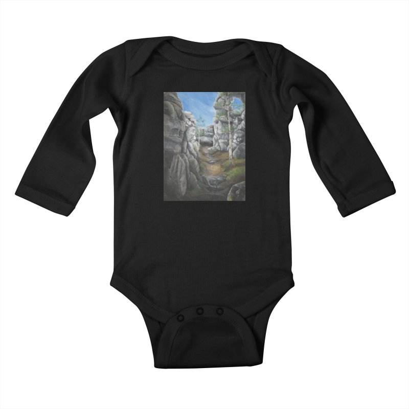Rock Faces Kids Baby Longsleeve Bodysuit by Yodagoddess' Artist Shop