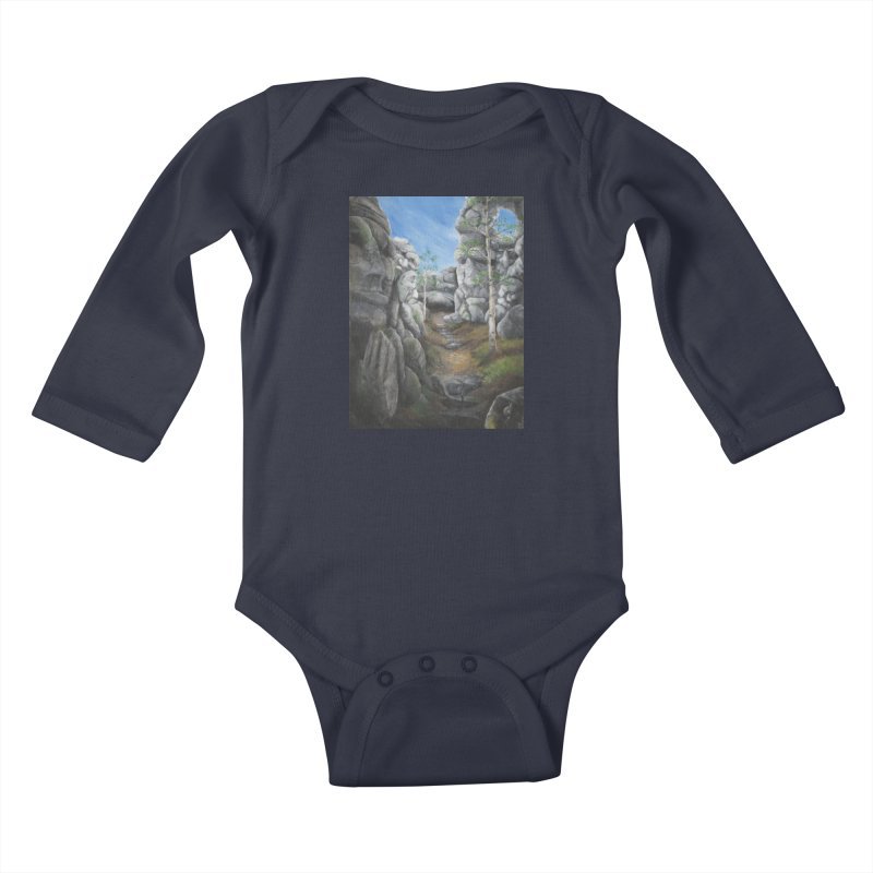Rock Faces Kids Baby Longsleeve Bodysuit by Yodagoddess' Artist Shop