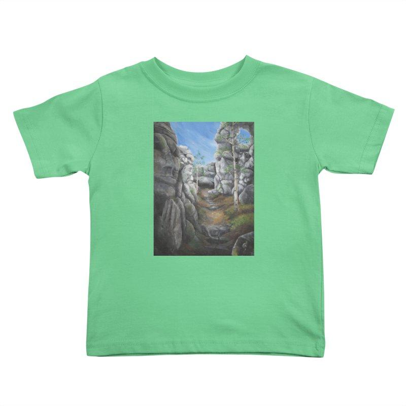 Rock Faces Kids Toddler T-Shirt by Yodagoddess' Artist Shop