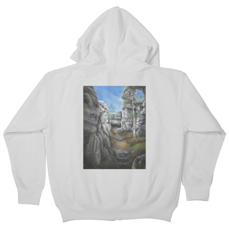 Rock Faces Kids Zip-Up Hoody by Yodagoddess' Artist Shop