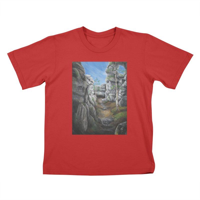 Rock Faces Kids T-Shirt by Yodagoddess' Artist Shop