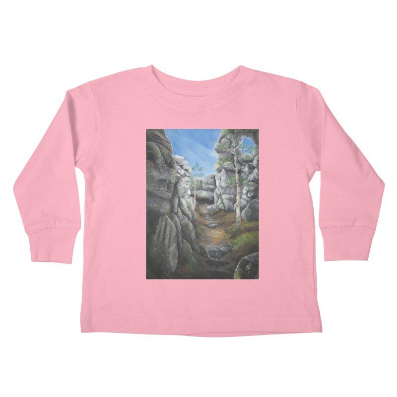 Rock Faces Kids Toddler Longsleeve T-Shirt by Yodagoddess' Artist Shop