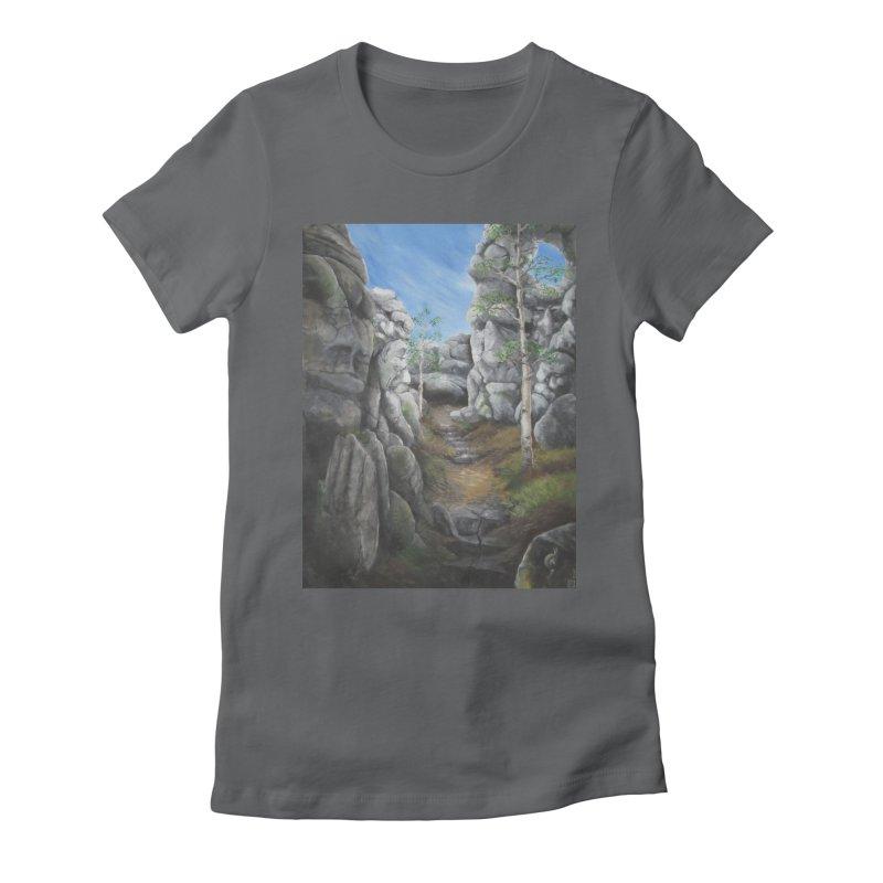 Rock Faces Women's Fitted T-Shirt by Yodagoddess' Artist Shop