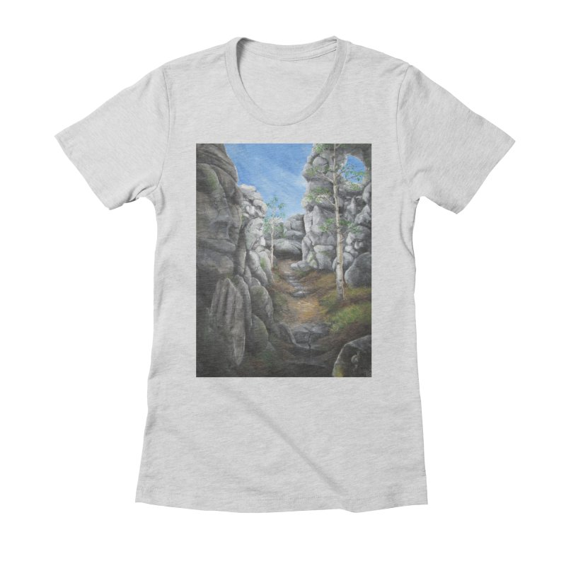 Rock Faces Women's Fitted T-Shirt by Yodagoddess' Artist Shop