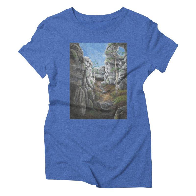 Rock Faces Women's Triblend T-Shirt by Yodagoddess' Artist Shop