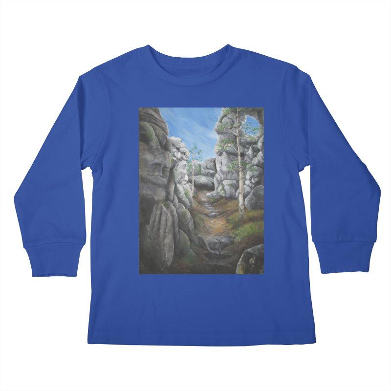 Rock Faces Kids Longsleeve T-Shirt by Yodagoddess' Artist Shop