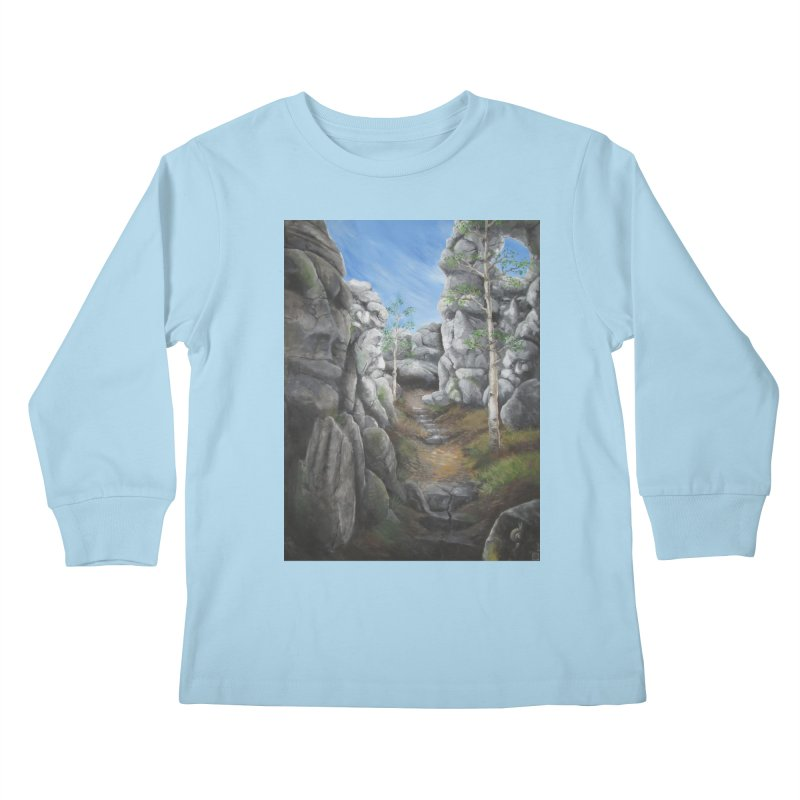 Rock Faces Kids Longsleeve T-Shirt by Yodagoddess' Artist Shop