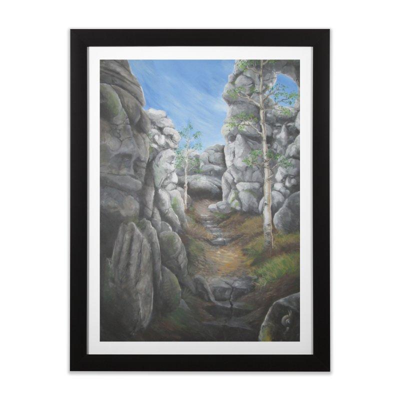 Rock Faces Home Framed Fine Art Print by Yodagoddess' Artist Shop